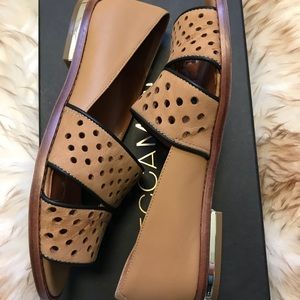New Saddie sandal flats Size 6 Brown Open Toe